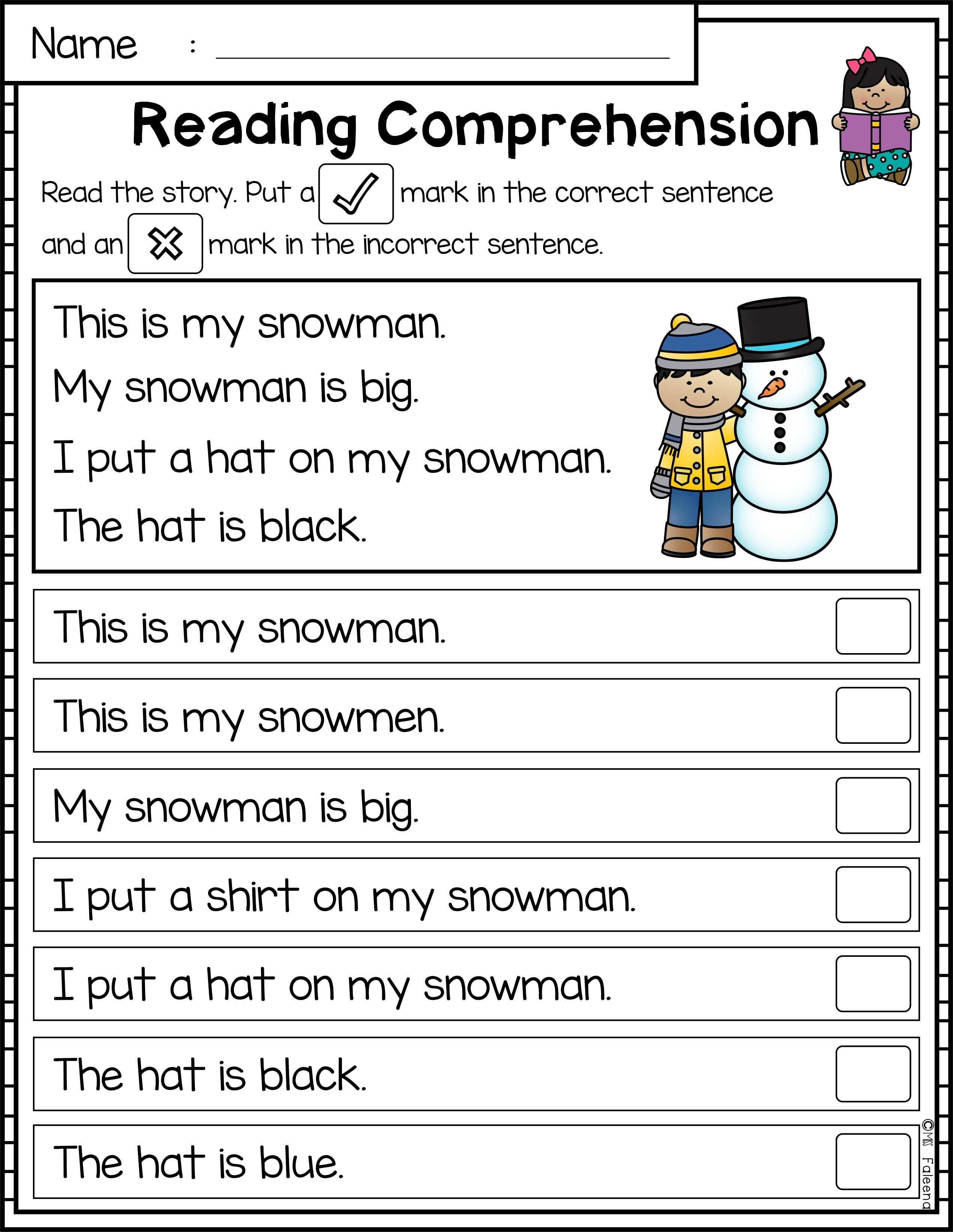 Free Reading Comprehension Passages Is Suitable For Kindergarten Studen Reading Comprehension Reading Comprehension Passages Reading Comprehension Kindergarten [ 3286 x 2542 Pixel ]