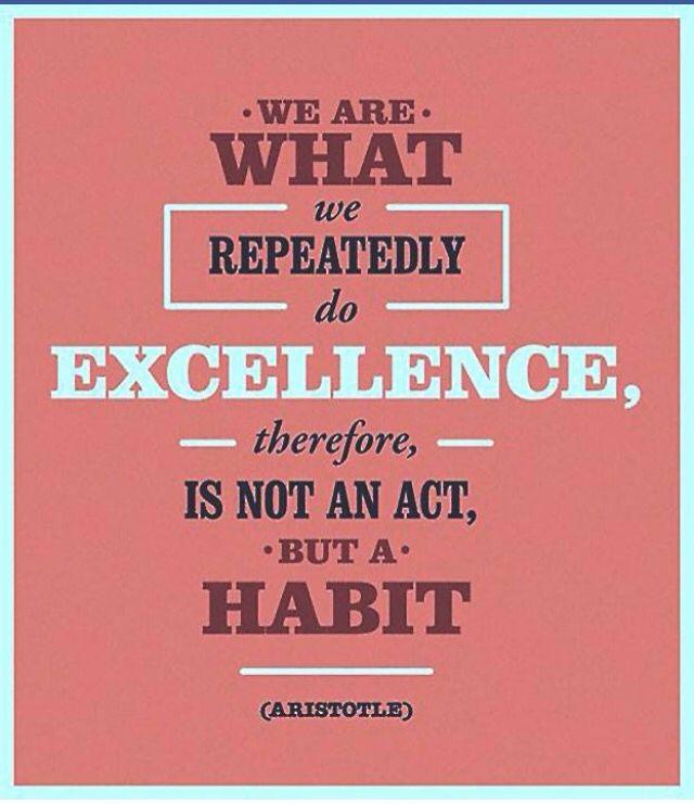 Excellence - Habit