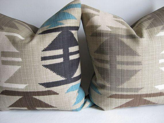 Pair Pillow Covers Tribal Navajo Kilim