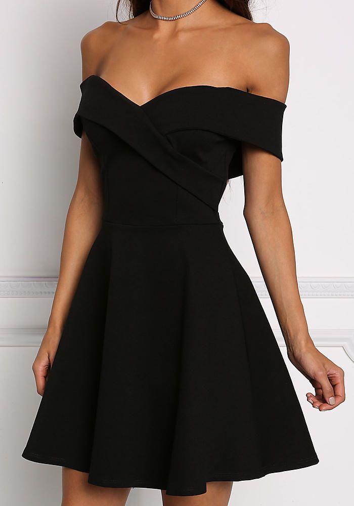 31++ Off shoulder black dress ideas