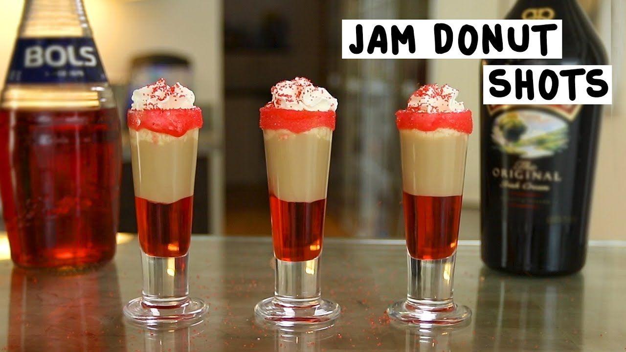Jam Donuts Shots | Recipe | Jam donut shot, Jam donut, Donuts
