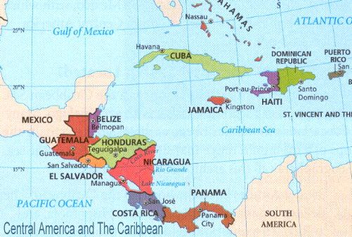 central america and the caribbean - Google Search | maps | Pinterest ...