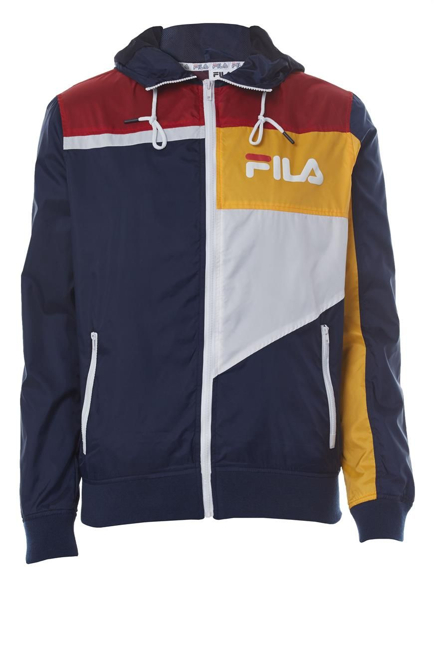 Exclusive FILA x factorie spliced hooded track jacket. Classic colour block  design for that 90s a8850c7fe06e