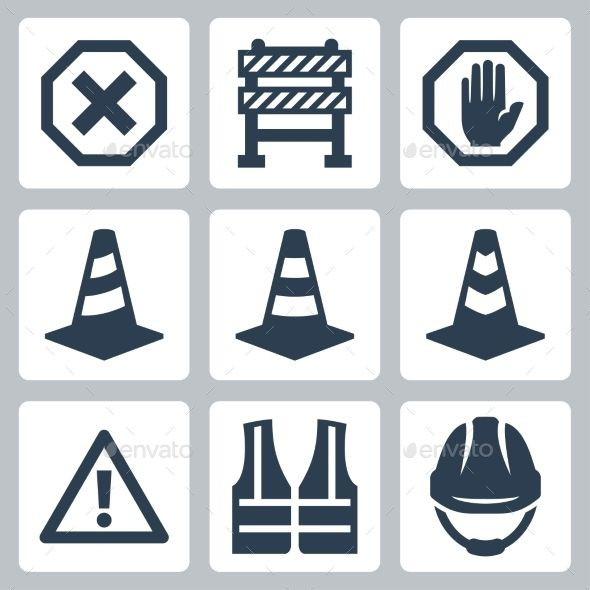 warning and job safety icons footage videos pinterest safety