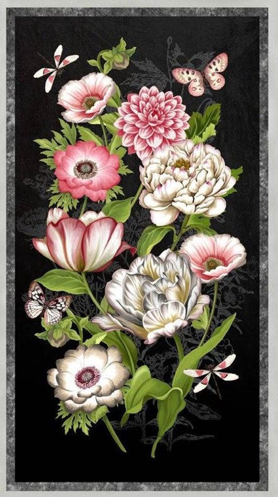 Wilmington Prints Tivoli Garden Panel Quilt Kit 100% fabric wall hanging