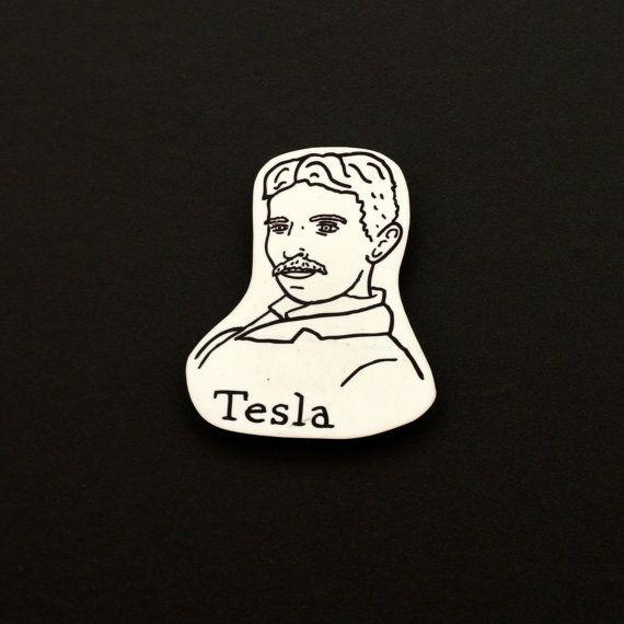 Nikola Tesla Magnet by JodiLynnDoodles on Etsy