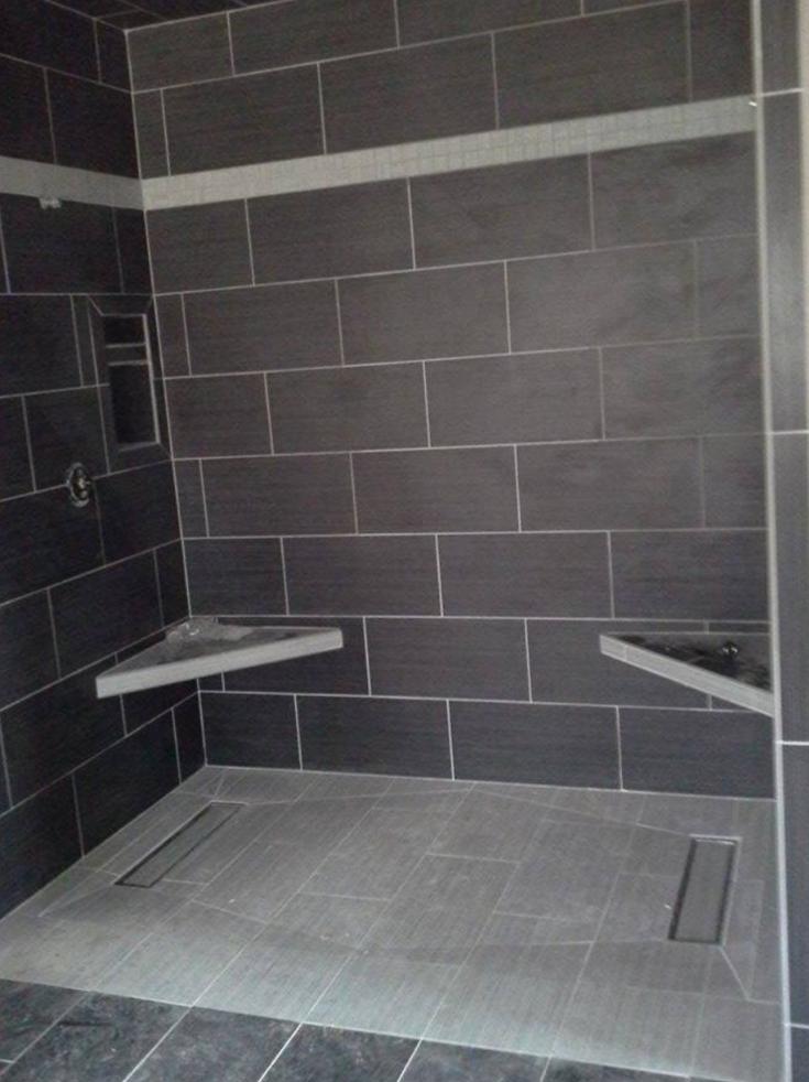 6 Things You Shouldn T Do When Replacing Your Tile Shower Shower Pan Tile Large Tile Bathroom Large Shower Tile