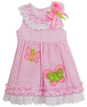 967a2493 Rare Editions Seersucker Butterfly Dress, Baby Girls (0-24 months) - Pink  3-6 months