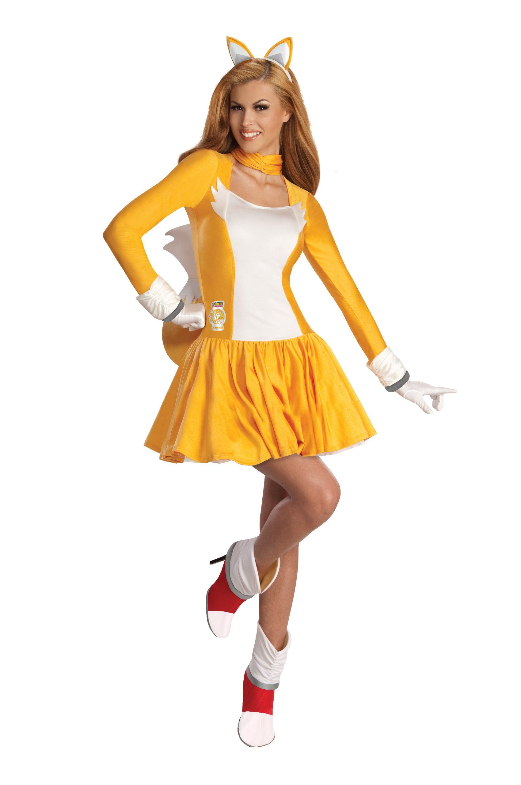 amazoncom rubies costume sonic the hedgehog adult tails dress and accessories clothing - Accessories For Halloween Costumes