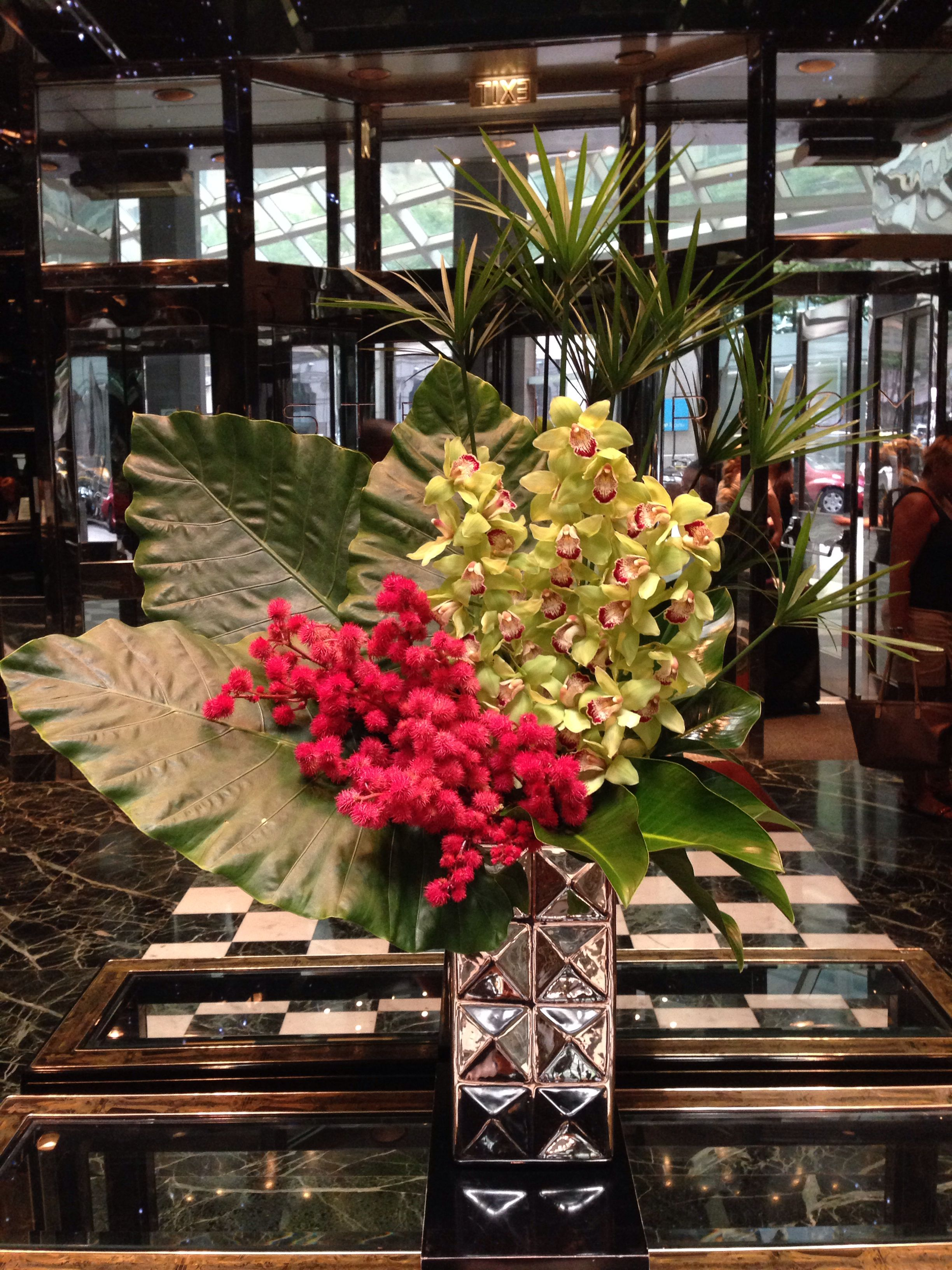 Hotel Foyer Flower Arrangements : Hotel lobby arrangement u c floral design lobbies