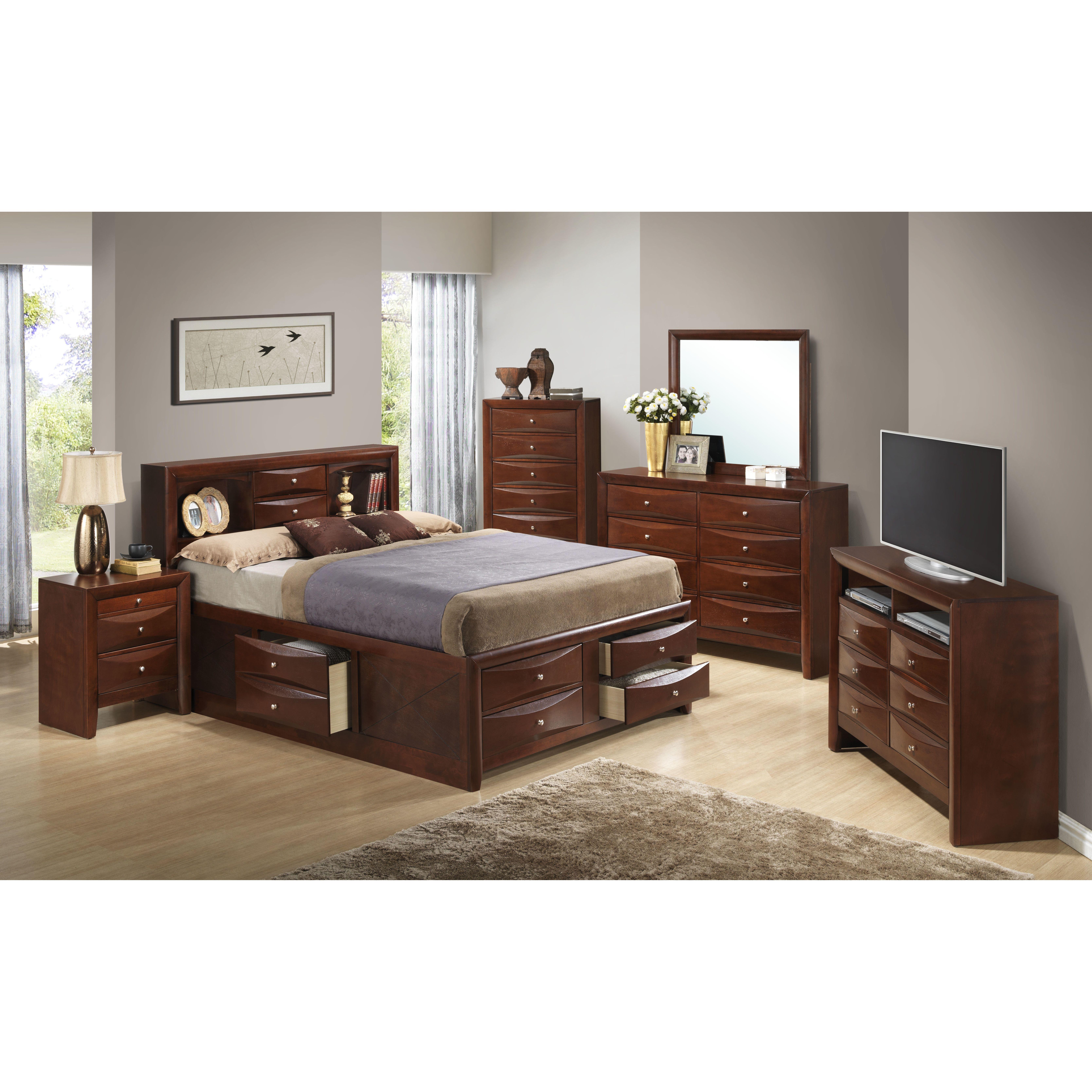 Glory Furniture Storage Platform Customizable Bedroom Set