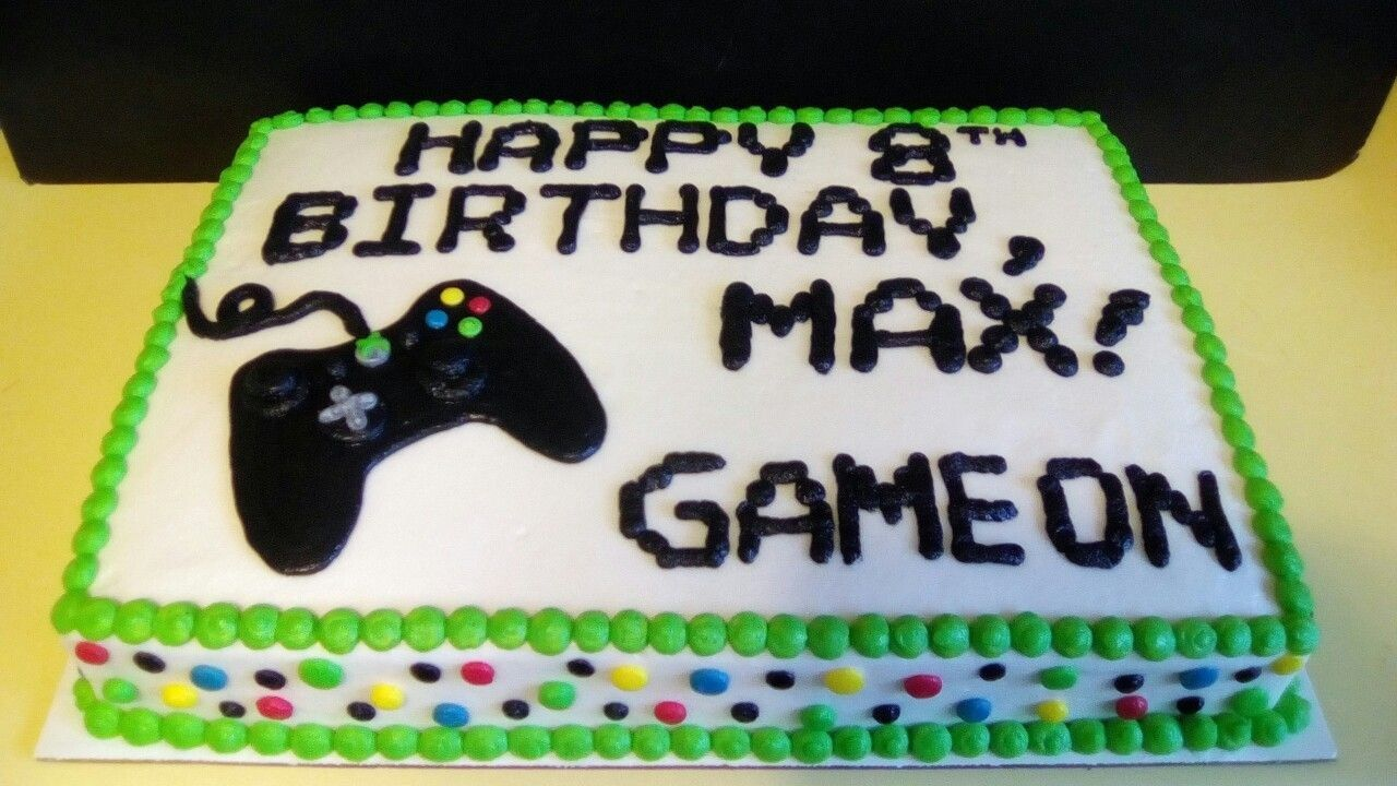 Magnificent Xbox Birthday Cake Gamer Birthday Sheet Cake With Xbox Controller Funny Birthday Cards Online Overcheapnameinfo
