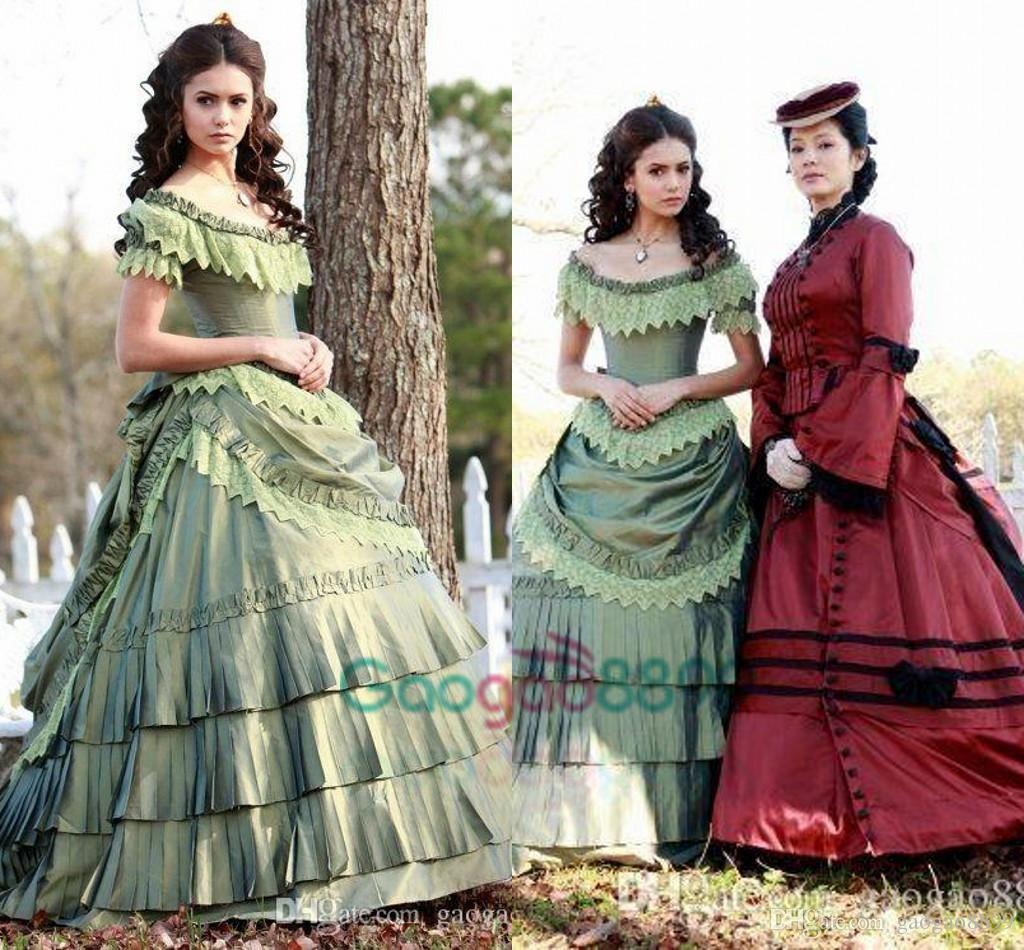Nina Dobrev Victorian Evening Dresses Halloween Costume Elena ...