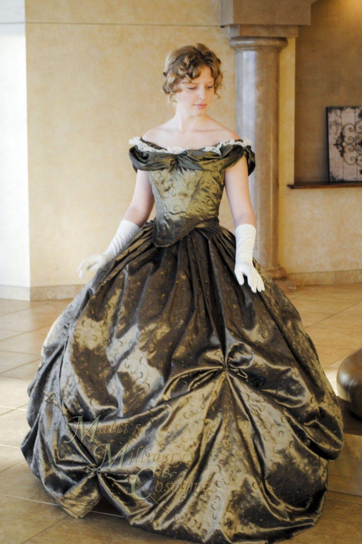 Custom Victorian Bridal Civil War Steampunk Ball Gown