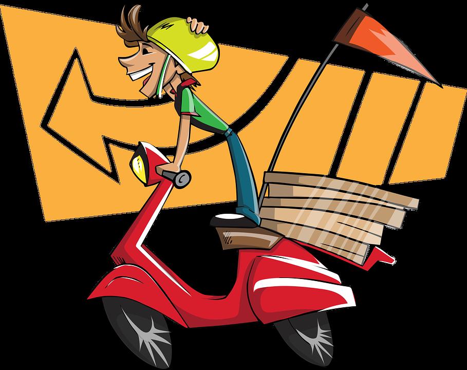 Imagen gratis en Pixabay - Repartidor, Niño, Hombre, Entrega ...