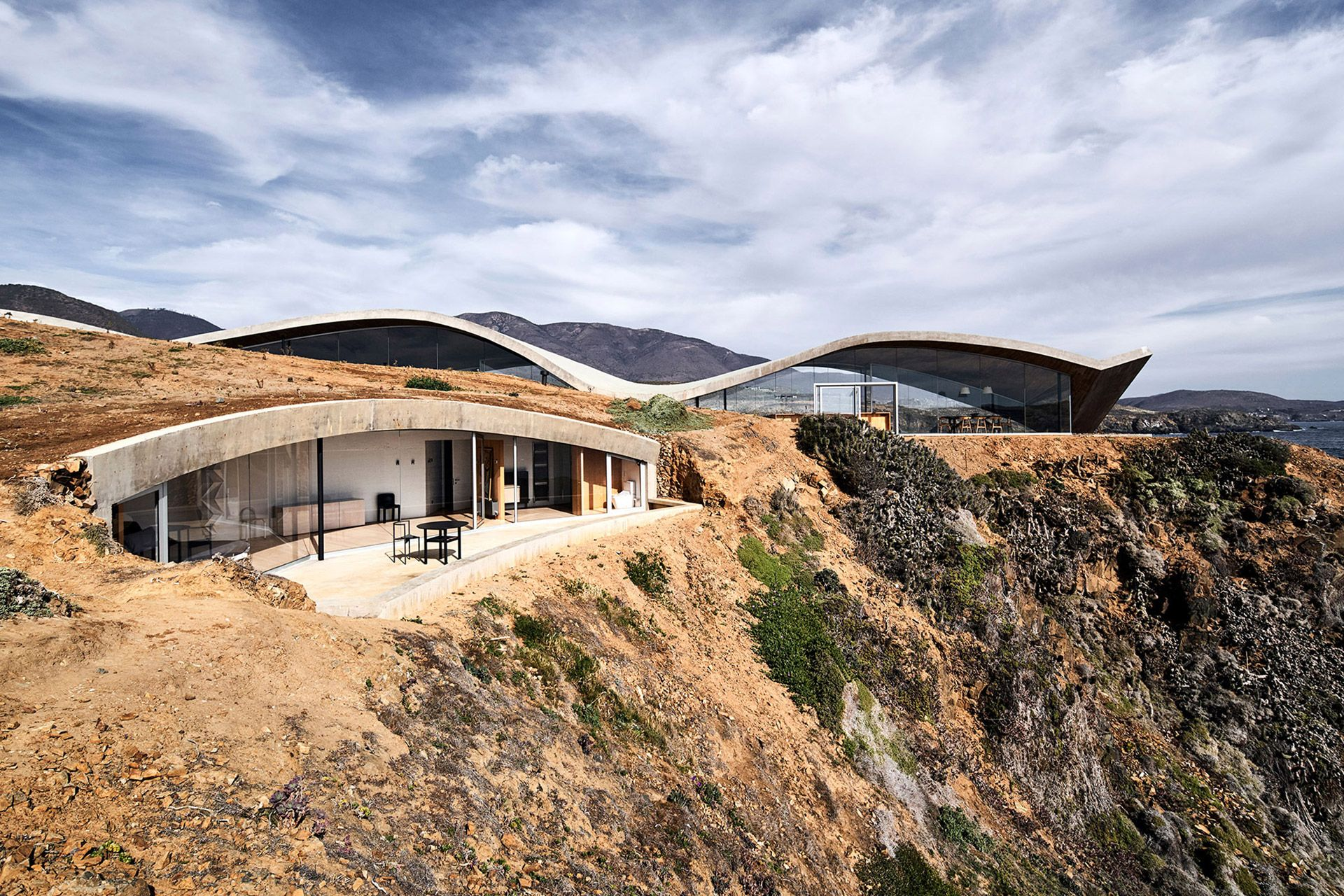 Los Vilos House In 2020 House In Nature Ryue Nishizawa Concrete Roof