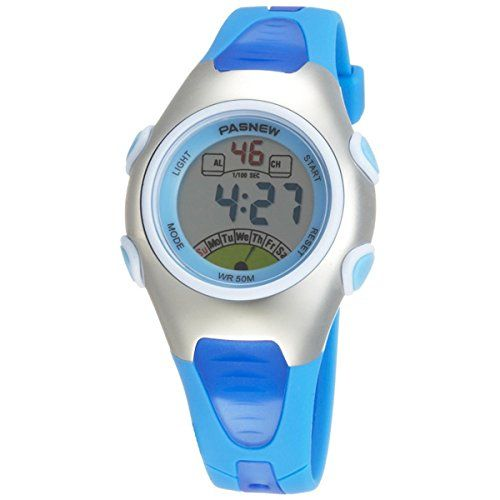 Armbanduhr kinder blau  Pixnor PASNEW PSE-219 wasserdichte Kinder jungen Mädchen LED ...
