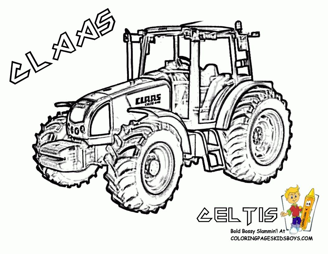 Coloriage Tracteur à Imprimer Gratuit | Tractor coloring pages, Coloring pages, Mermaid coloring ...