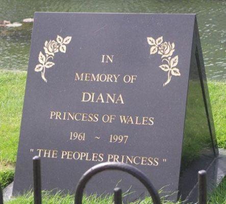 Princess Diana Burial Site Photos Princess Diana Memorial