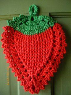 Strawberry Potholder pattern by Kay Meadors