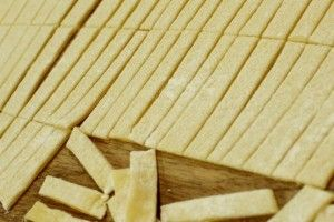 Vintage Brown Buttered Homemade Noodles Recipe - Happy Money Saver