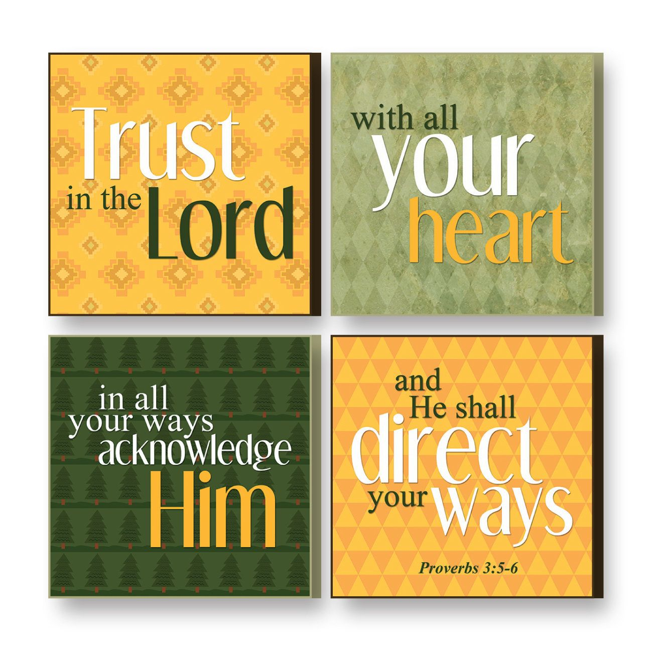 4 Piece Treasured Times Trust Christian Wall Décor Set | Trust and ...