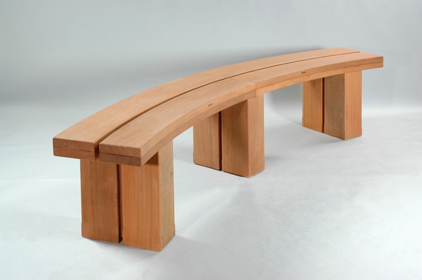 Hardwood timber seat type 2 woodscape outdoor seating by woodscape timber outdoor furniture Curved bench seating