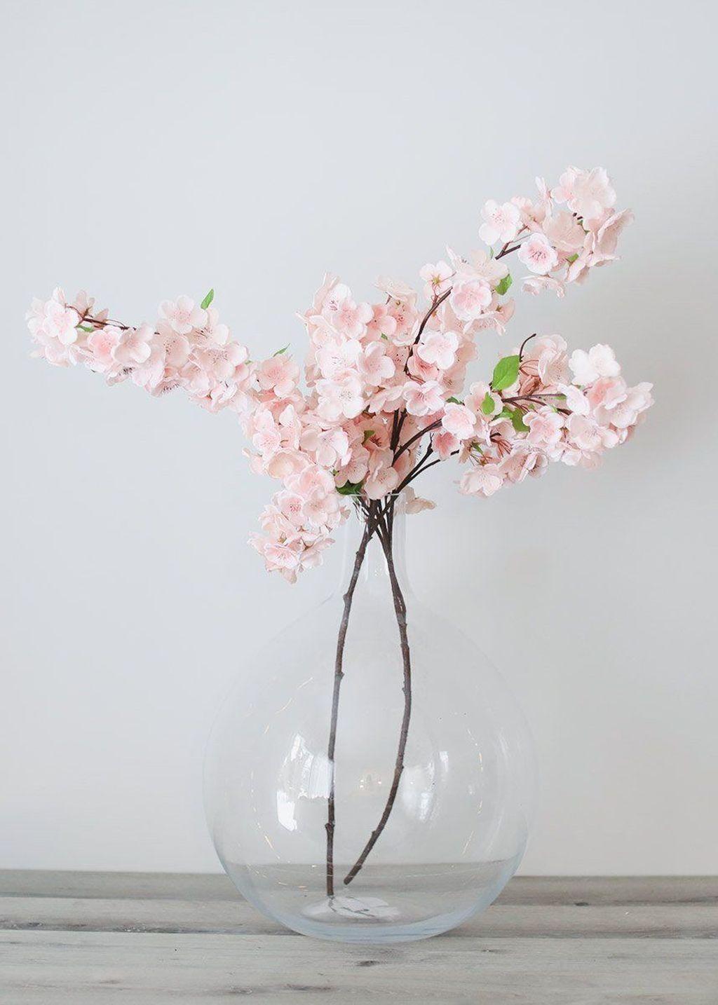 40 Pretty Flower Arrangement Ideas For Home Artificial Flower Arrangements Flower Decorations Cherry Blossom Flowers