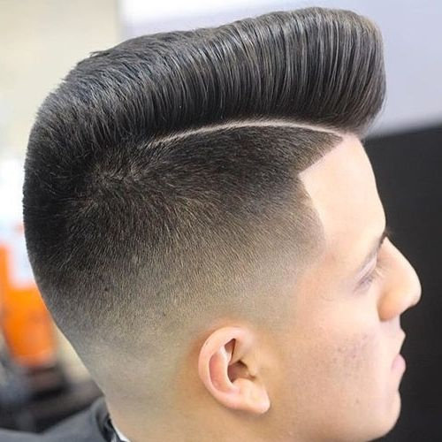 Mens Skin Fade And Stubble Brown Hair