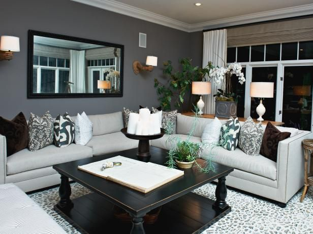 An Grovvy Idea For The House See This Eclectic Gray Living Room On HGTV.com Part 33