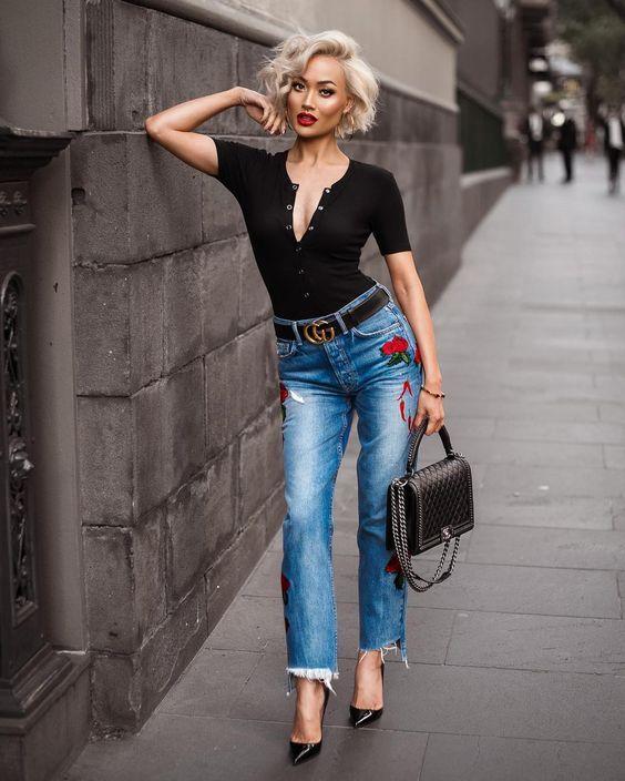 711cf438361d5a O cinto Gucci virou uma febre entre as fashionistas. Afinal, é um acessório  simples, mas com uma grande capacidade de deixar qualquer look mais  estiloso.