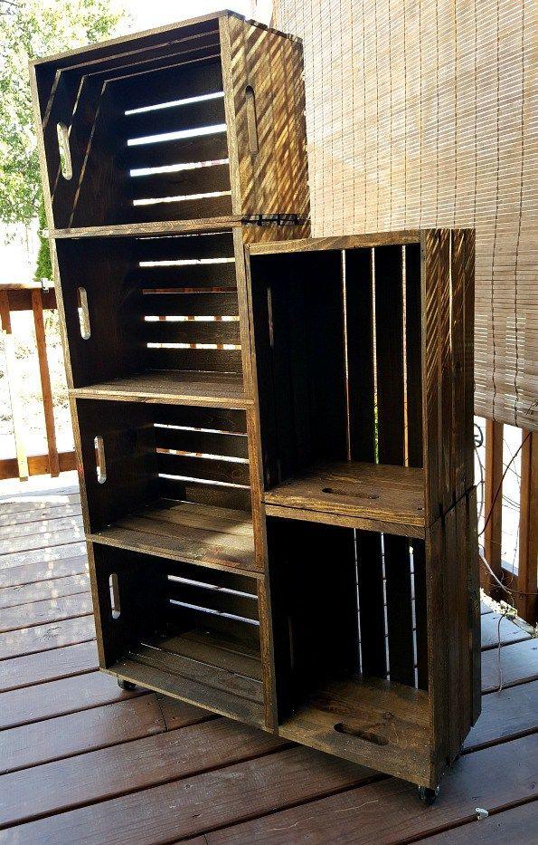 diy wooden crate shoe rack organizational genius diy wooden crate wooden crate furniture. Black Bedroom Furniture Sets. Home Design Ideas