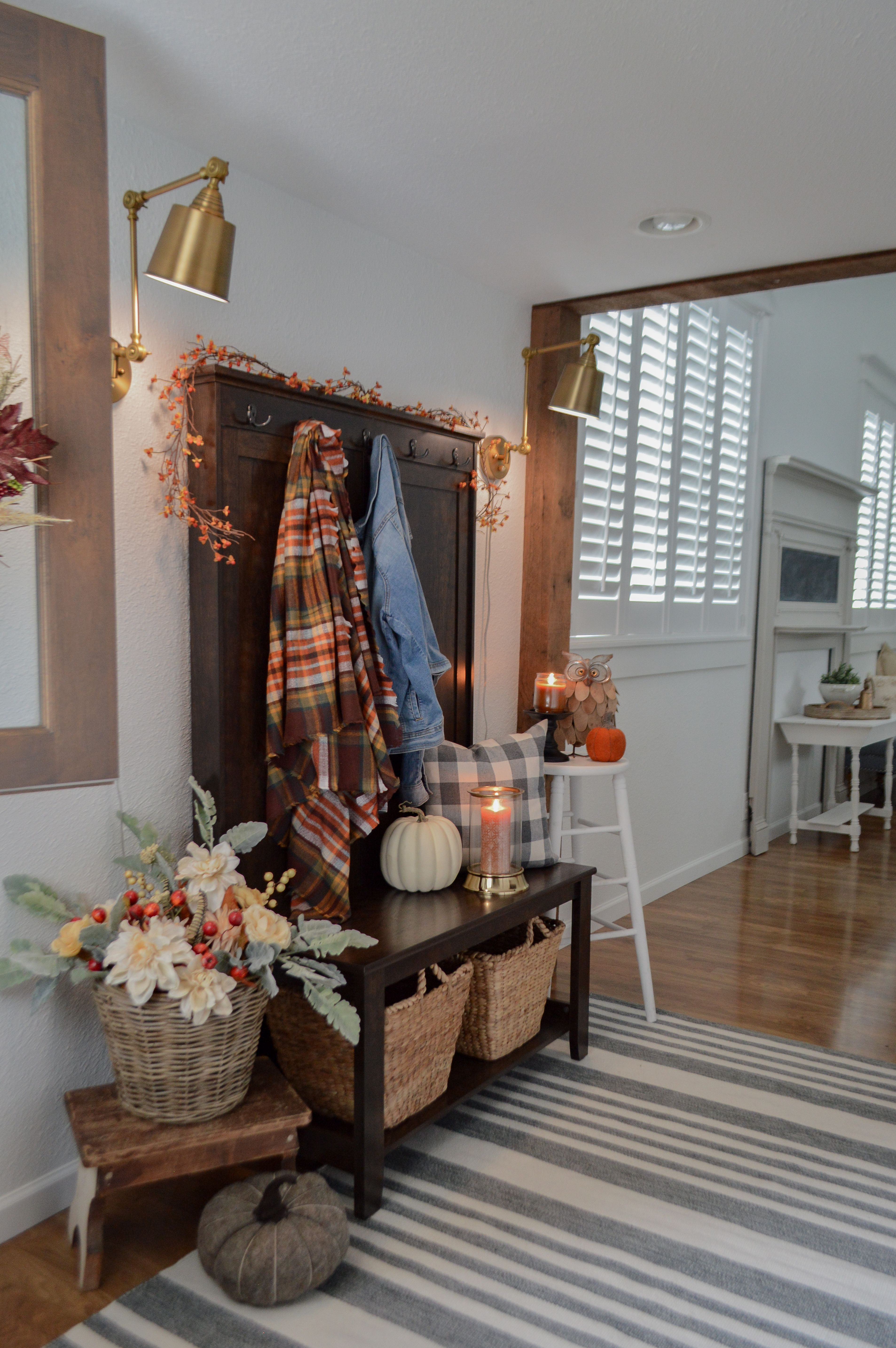 Fresh Fall Entryway with Style and Storage Fall entryway