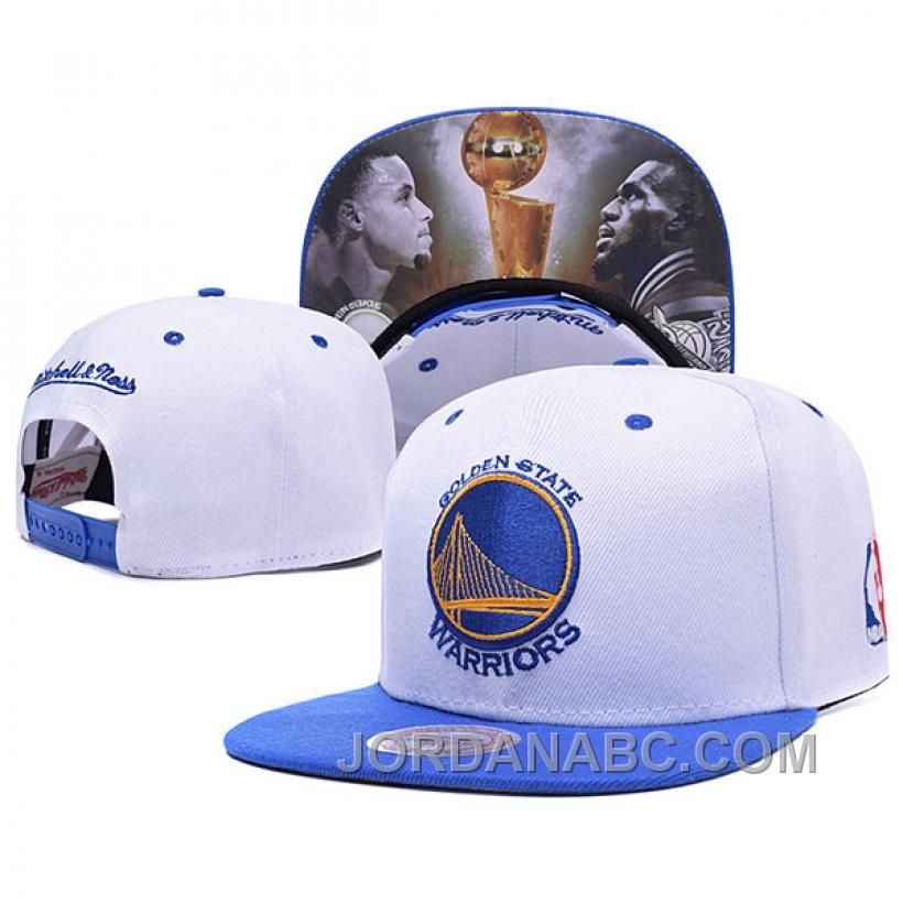 Buy 2015 NBA Champions Golden State Warriors James VS Curry White Snapback  Cap New Release from Reliable 2015 NBA Champions Golden State Warriors  James VS ... 8792474dd2