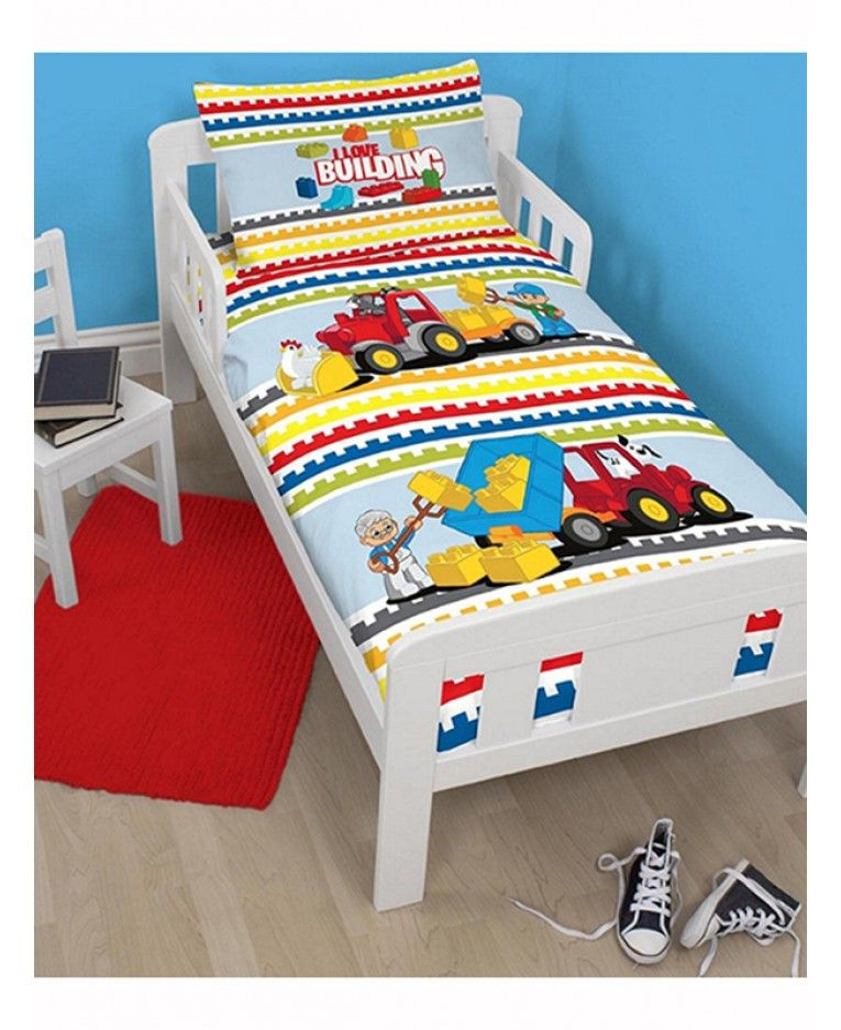 This Lego Duplo Blocks Junior Duvet Cover And Pillowcase Set Is Ideal For Little Lego Fans And Fits Most Jun Toddler Bed Duvet Cot Bed Duvet Duvet Bedding Sets