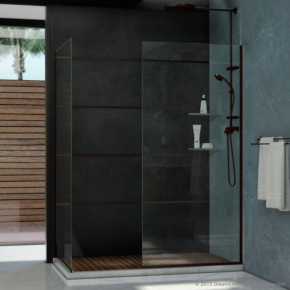 Linea 34 Inch X 72 Inch And 30 Inch X 72 Inch Semi Frameless Glass