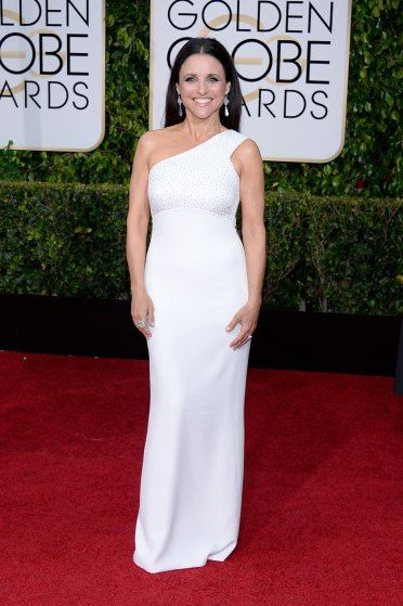 Julia Louis-Dreyfus arrives to the 72nd Annual Golden Globe Awards held at The Beverly Hilton Hotel on Jan. 11, 2015 in Beverly Hills, Calif.