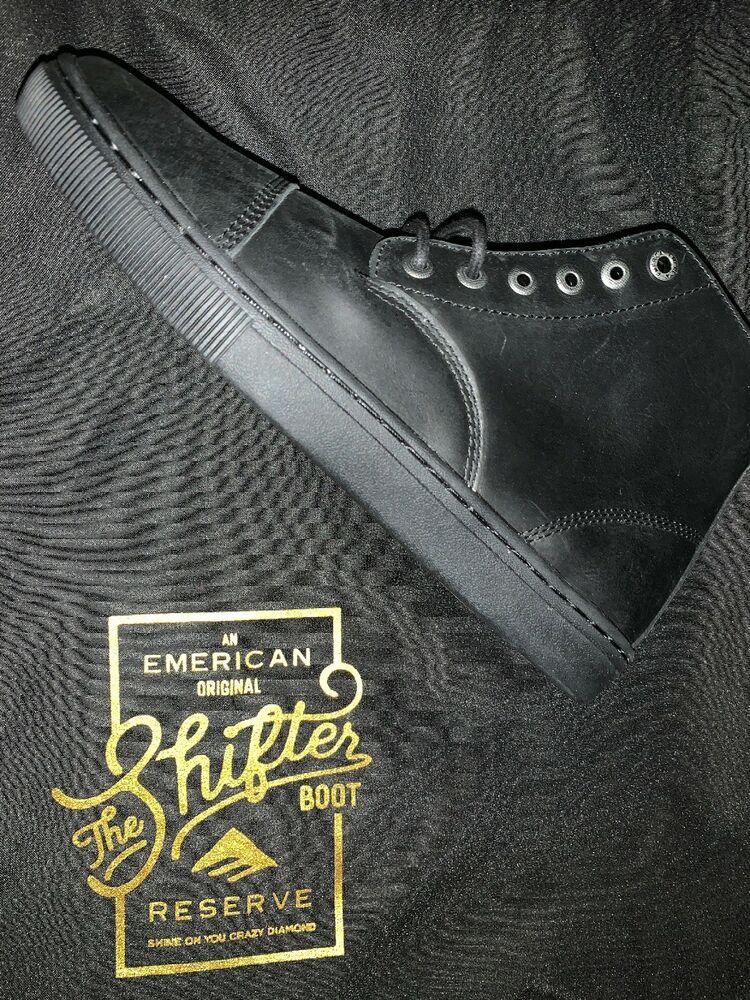 "Emerica /""Shifter High Reserve/"" Boots Black//Black//Gum Men/'s Skating Shoes"