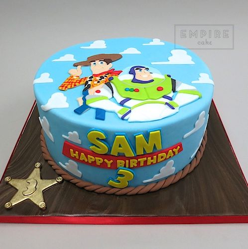 Toy Story flat fondant Birthday Cake Party Ideas for Kids