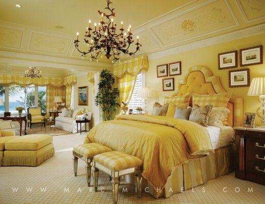 Yellow bedroom, Marc-Michaels Interior Design Yellow bedrooms