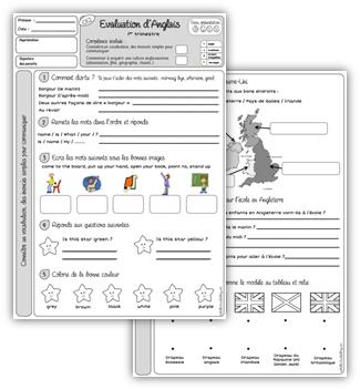 Evaluations d'anglais CE2 et CM1 | Anglais ce2, Apprendre l'anglais et Anglais cm1