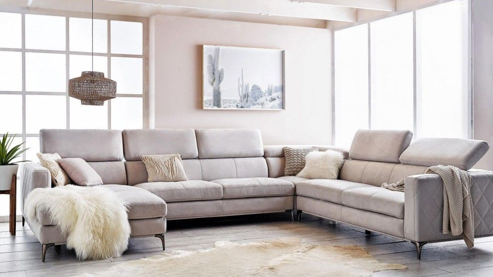 Houston 6 seater fabric modular sofa with chaise lounges - The living room lounge houston tx ...