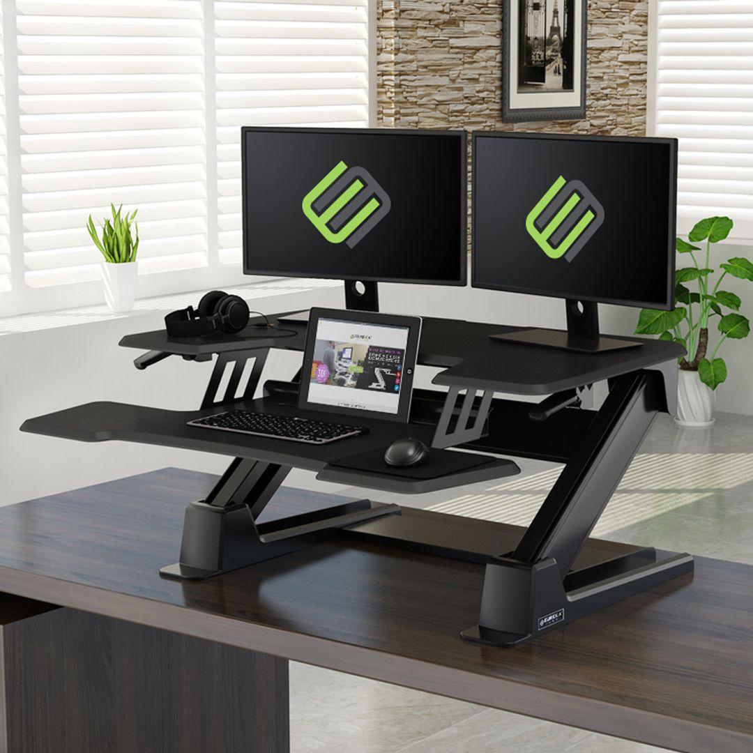 Standing Desk Converter 36 Black Gen2 Eureka Ergonomic 36 Gen 2
