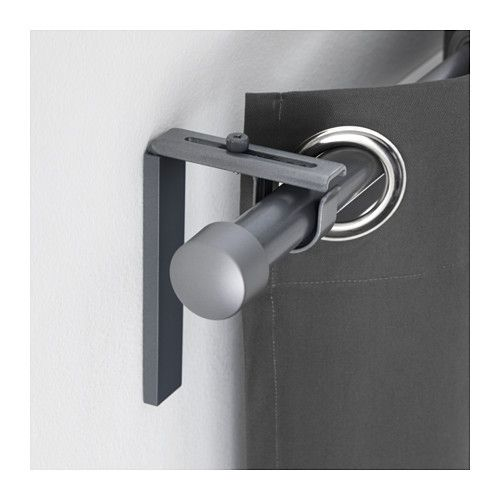 Betydlig Wall Ceiling Bracket Silver Color Curtain Rods