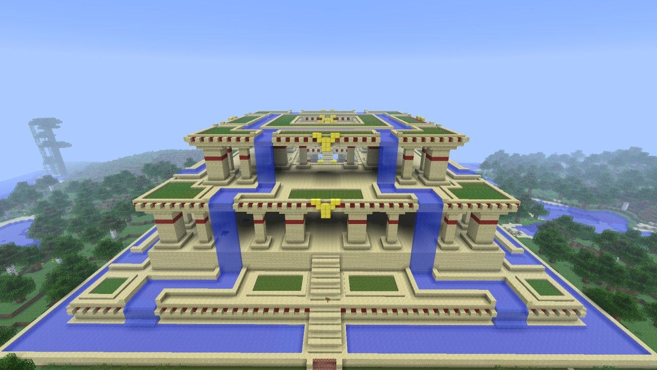 Tower Of Babel Hanging Gardens Of Babylon Google Search My Atlantis Pinterest Minecraft
