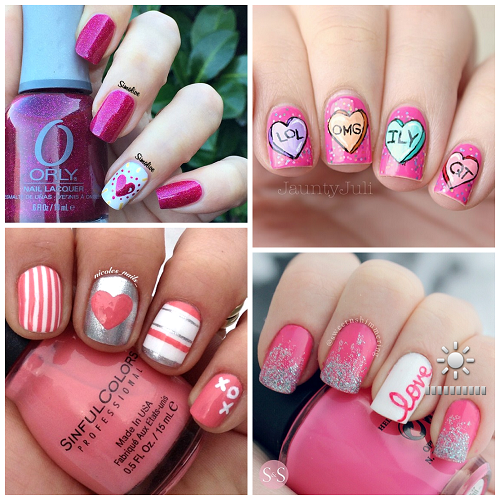 Here Is A Bunch Of Valentine S Day Nail Ideas That You Can Make For