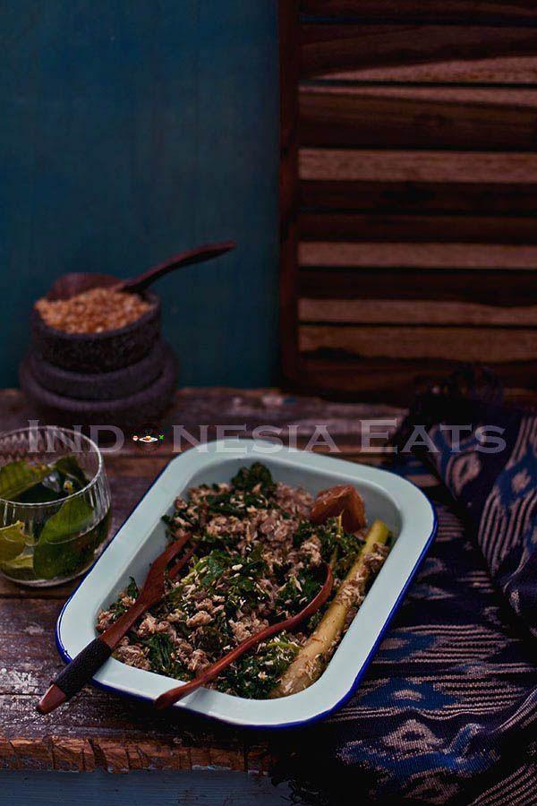 Tasak Telu Karo Style Minced Meat Salad With Torch Ginger Fruit Similar To Bali Style Lawar Meat Salad Food Indonesian Food