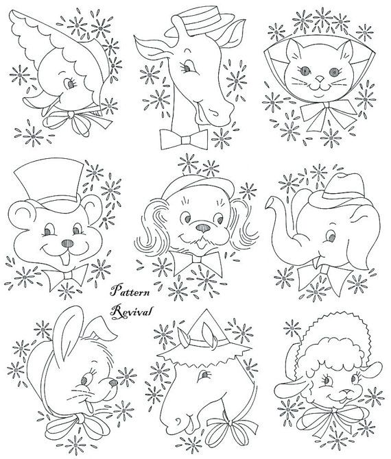 Embroidery Quilt 7267 Baby Pet Zoo crib pattern PDF