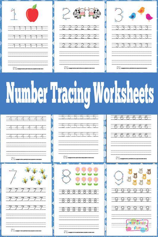 Number Tracing Worksheets Free Printable   Tracing worksheets ...