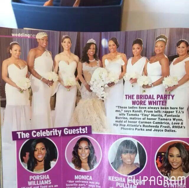Pin By Sheila Halsell On Keeping Up With Kandi Burruss Celebrity Weddings Wedding Anniversary Celebration Maid Of Honor